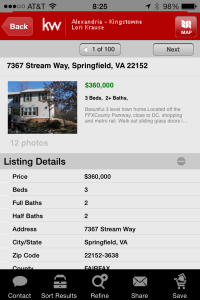 kw app view homes